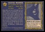 1953 Topps Who-Z-At Star #67  Wayne Morris  Back Thumbnail