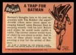1966 Topps Batman Black Bat #37   Trap for Batman Back Thumbnail