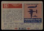 1952 Topps Wings #197   Saunders-Roe Back Thumbnail