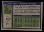 1972 Topps #15  John Hadl  Back Thumbnail
