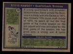 1972 Topps #74  Steve Ramsey  Back Thumbnail