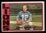 1972 Topps #222  Errol Mann  Front Thumbnail