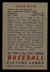 1951 Bowman #228  Cloyd Boyer  Back Thumbnail