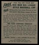 1954 Red Man #7 AL Minnie Minoso  Back Thumbnail
