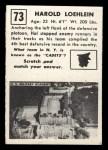 1951 Topps Magic #73  Harold Loehlein  Back Thumbnail