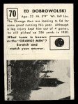 1951 Topps Magic #70  Ed Dobrowolski  Back Thumbnail