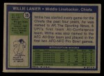 1972 Topps #35  Willie Lanier      Back Thumbnail