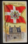 1911 Flags of All Nations T59 #35 REC  Denmark Royal Standard Front Thumbnail