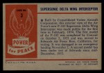 1954 Bowman Power for Peace #3   Supersonic Delta Wing Interceptor Back Thumbnail