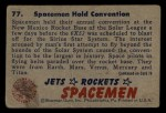 1951 Bowman Jets Rockets and Spacemen #77   Spacemen Hold Convention Back Thumbnail