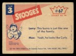 1959 Fleer Three Stooges #67   Curly I tell you it is Not Back Thumbnail