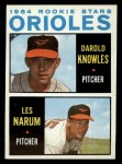 1964 Topps #418   -  Darold Knowles / Les Narum Orioles Rookies Front Thumbnail