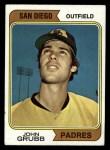 1974 Topps #32 SD Johnny Grubb  Front Thumbnail