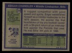 1972 Topps #319  Edgar Chandler  Back Thumbnail