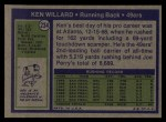 1972 Topps #234  Ken Willard  Back Thumbnail