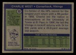 1972 Topps #53  Charlie West  Back Thumbnail