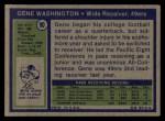 1972 Topps #90  Gene Washington  Back Thumbnail