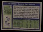 1972 Topps #183  Jim Nance  Back Thumbnail