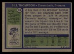 1972 Topps #24  Bill Thompson  Back Thumbnail