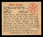 1950 Bowman #36  Eddie Kazak  Back Thumbnail