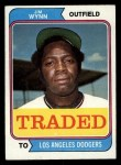 1974 Topps Traded #43 T  -  Jim Wynn Traded Front Thumbnail
