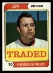 1974 Topps Traded #534 T  -  Eddie Watt Traded Front Thumbnail