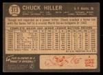 1964 Topps Venezuelan #313  Chuck Hiller  Back Thumbnail