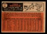 1966 Topps Venezuelan #88  Fred Whitfield  Back Thumbnail