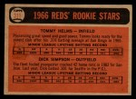 1966 Topps Venezuelan #311   -  Tommy Helms / Dick Simpson Reds Rookies Back Thumbnail