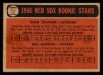 1966 Topps Venezuelan #356   -  Ken Sanders / Owen Johnson Red Sox Rookies Back Thumbnail