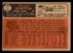 1966 Topps Venezuelan #20  Willie Horton  Back Thumbnail