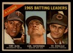 1966 Topps Venezuelan #216   -  Vic Davalillo / Tony Oliva / Carl Yastrzemski AL Batting Leaders Front Thumbnail