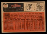 1966 Topps Venezuelan #130  Joe Torre  Back Thumbnail