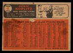 1966 Topps Venezuelan #46  Howie Koplitz  Back Thumbnail