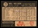 1964 Topps Venezuelan #273  Mel Nelson  Back Thumbnail