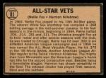 1964 Topps Venezuelan #81   -  Nellie Fox / Harmon Killebrew All-Star Vets Back Thumbnail
