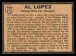 1964 Topps Venezuelan #232  Al Lopez  Back Thumbnail