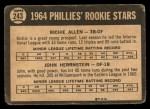 1964 Topps Venezuelan #243   -  Rich Allen / John Herrnstein  Phillies Rookies Back Thumbnail