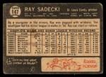 1964 Topps Venezuelan #147  Ray Sadecki  Back Thumbnail