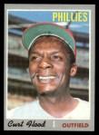 1970 Topps #360  Curt Flood  Front Thumbnail