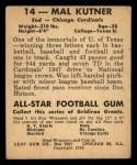 1948 Leaf #14 BN Mal Kutner  Back Thumbnail