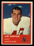 1963 Fleer #40  Jim Norton  Front Thumbnail