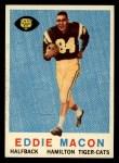 1959 Topps CFL #74  Eddie Macon  Front Thumbnail