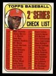 1969 Topps #107 JIM  -  Bob Gibson Checklist 2 Front Thumbnail