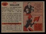 1957 Topps #82  Ron Waller  Back Thumbnail