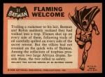 1966 Topps Batman Black Bat #51   Flaming Welcome Back Thumbnail
