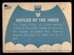 1966 Topps Batman Blue Bat Back #30   Jostled by the Joker Back Thumbnail