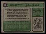 1974 Topps #32 WAS Johnny Grubb  Back Thumbnail