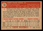 1952 Topps #146 CRM Frank House  Back Thumbnail