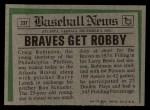 1974 Topps Traded #23 T  -  Craig Robinson Traded Back Thumbnail